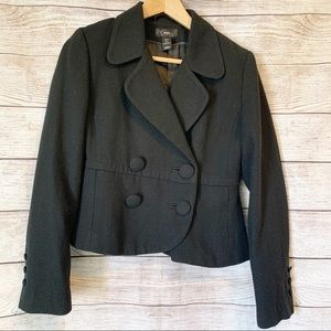 H&M Double Breasted Short Black Peacoat in Sz 6